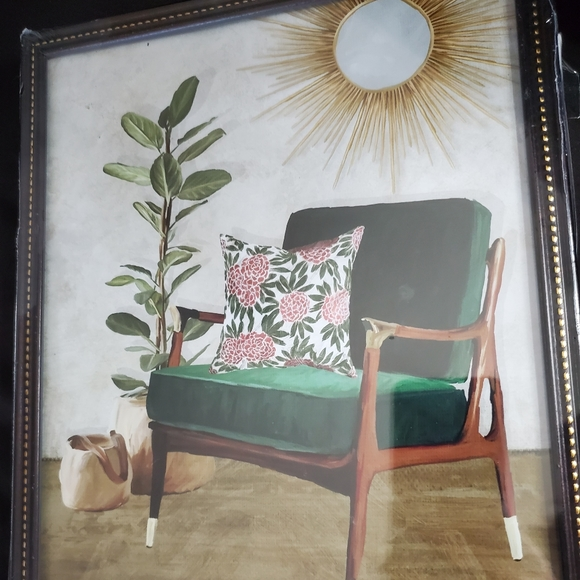 None Other - Watercolor painting of a gorgeous green chair
